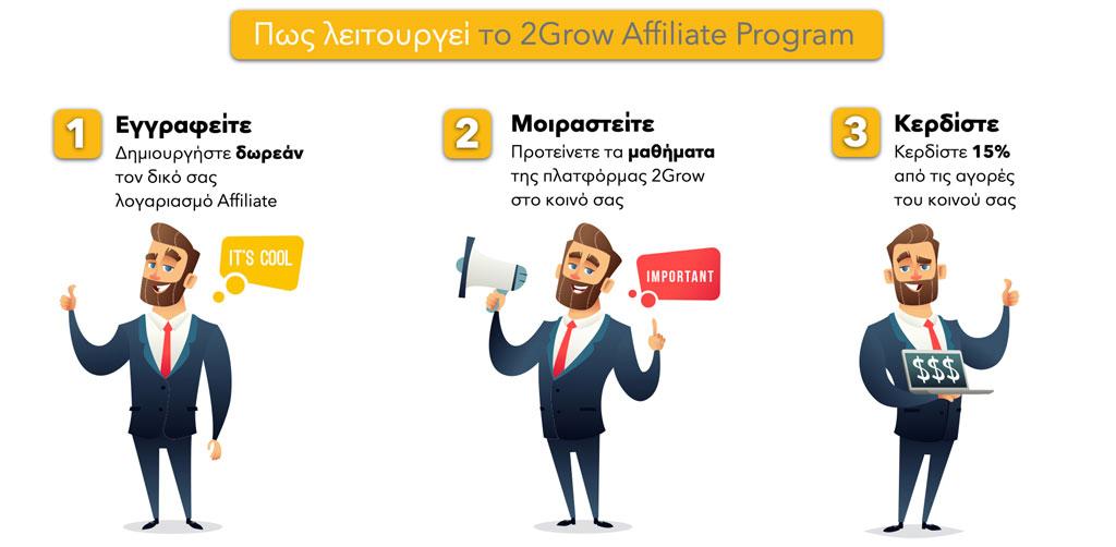 Πως λειτουργεί το 2Grow Affiliate Program - 2Grow